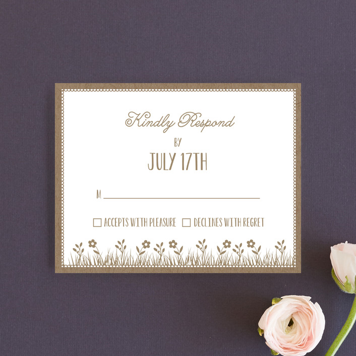 """""""Kraft Woodland Tree"""" - Rustic Rsvp Cards in Buckwheat by Coco and Ellie Design."""