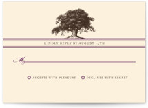 Oak Tree RSVP Cards