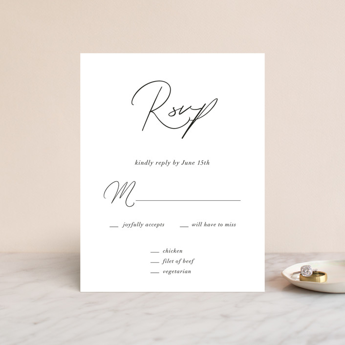 """""""first dance"""" - Rsvp Cards in Champagne by Kasia Labocki."""