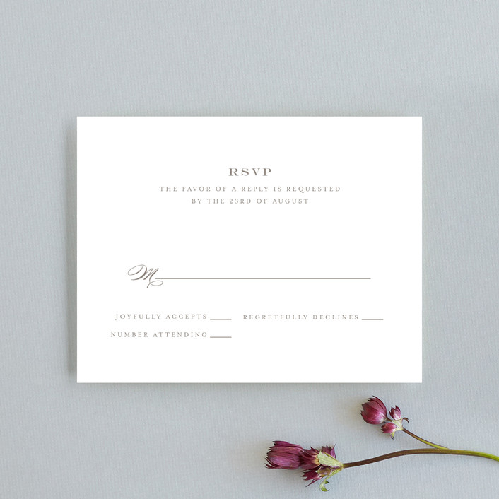 """Field"" - Classical, Simple Rsvp Cards in Deep Ocean by Toast & Laurel."