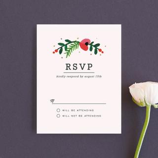 Simple Flora RSVP Cards