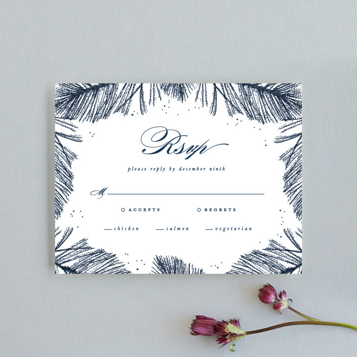 """""""Frosty chic"""" - Rsvp Cards in Peacock by Creo Study."""