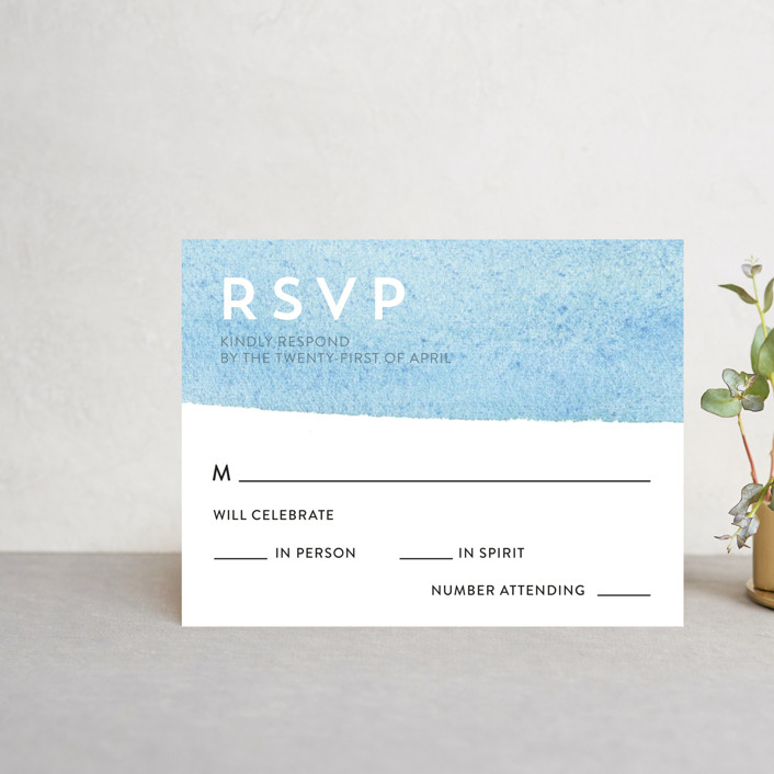 """Painted Sea"" - Rsvp Cards in Sea by Laura Condouris."