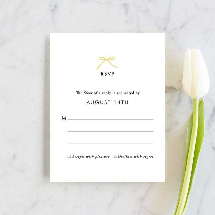 """""""Sweet Boutique"""" - Simple Rsvp Cards in Sunny Day by Design Lotus."""
