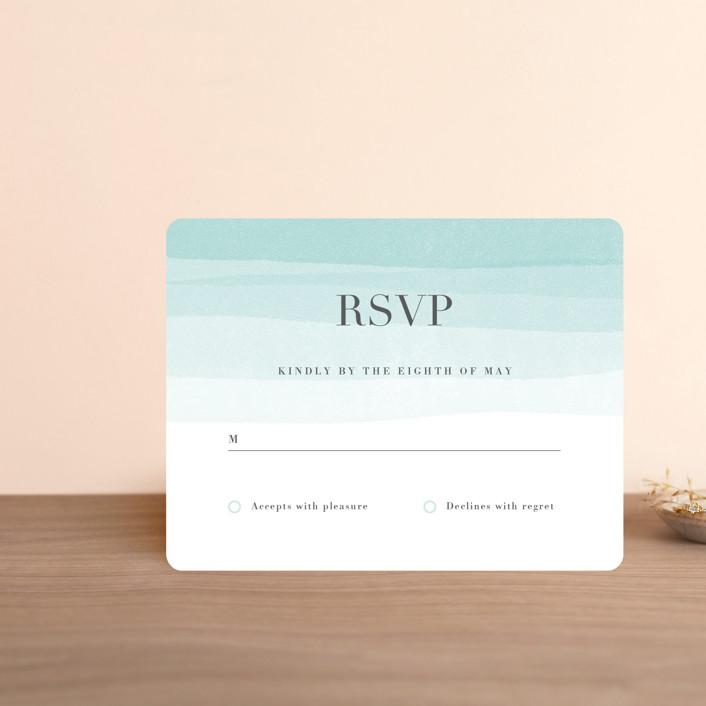 """Old Post Road"" - Rsvp Cards in Sea Salt by Jennifer Wick."