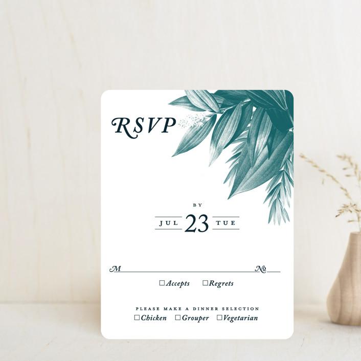 """Moonlit Garden"" - Rsvp Cards in Twilight by GeekInk Design."
