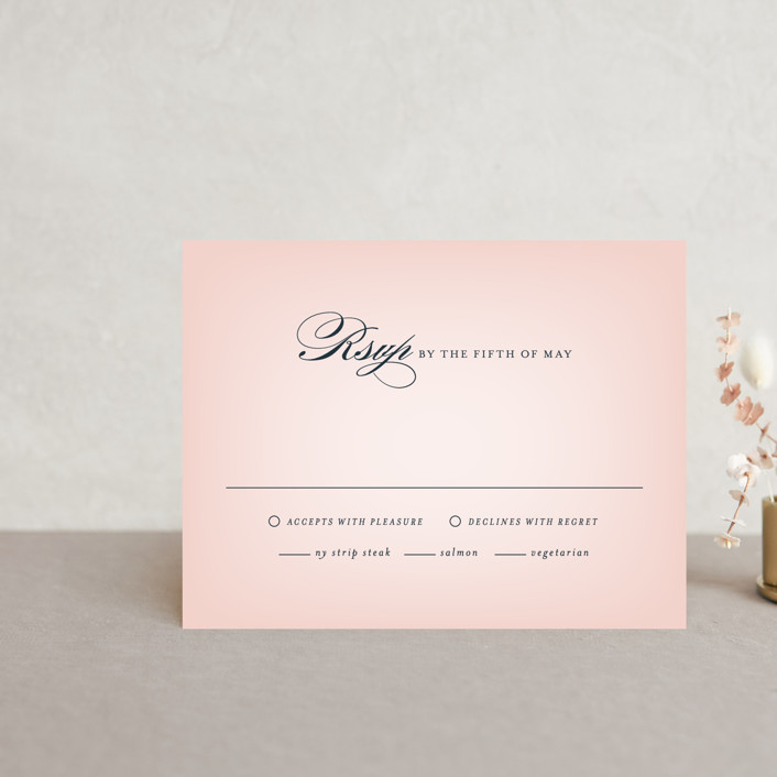 """Big City - San Francisco"" - Rsvp Cards in Blush by Hooray Creative."