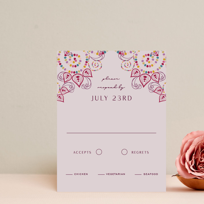 """""""Henna"""" - Rsvp Cards in Mixed Berry by fatfatin."""