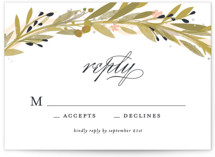 Floral Crown RSVP Cards