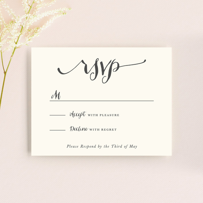 """""""In Nature"""" - Floral & Botanical, Rustic Rsvp Cards in Beachwood by Leah Bisch."""