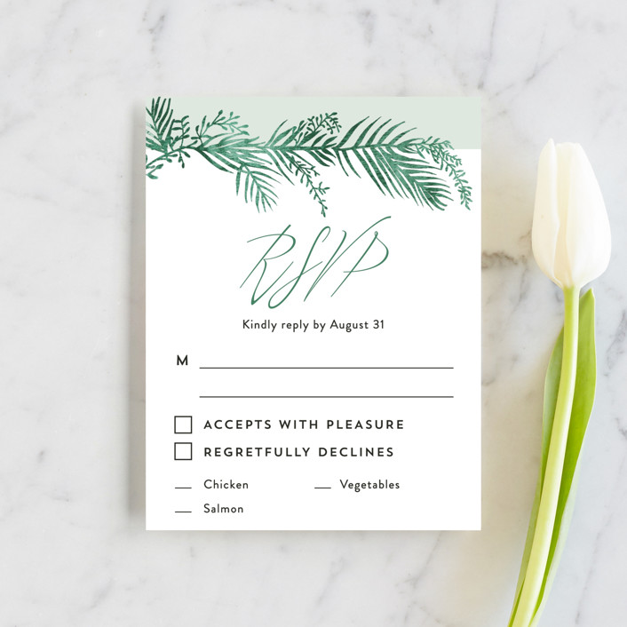 """""""Destination"""" - Rsvp Cards in Palm by Pink House Press."""