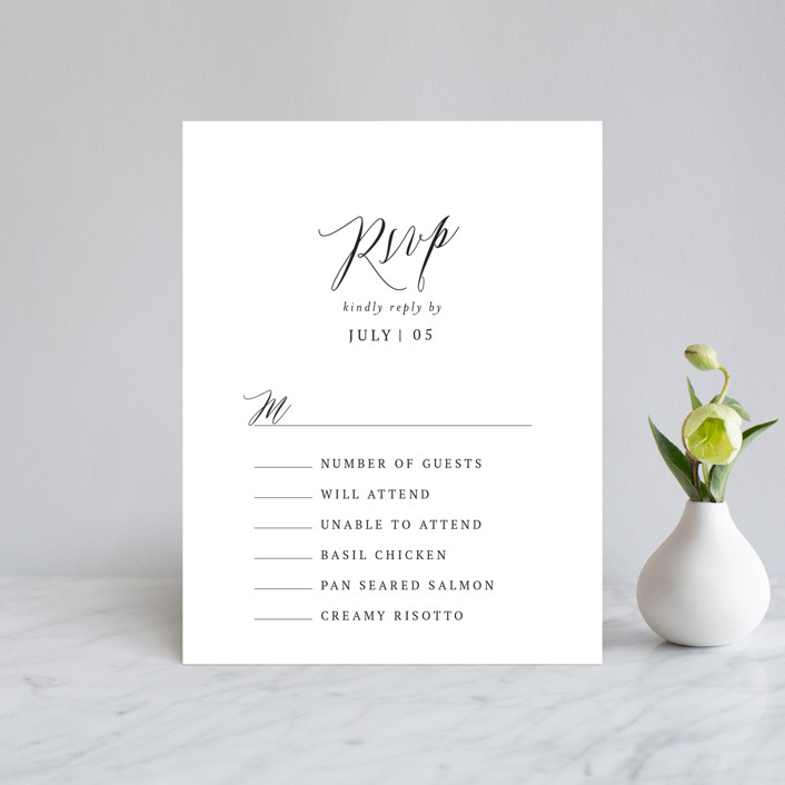 """Nothing Compares To You"" - Rsvp Cards in Cream by Design Lotus."