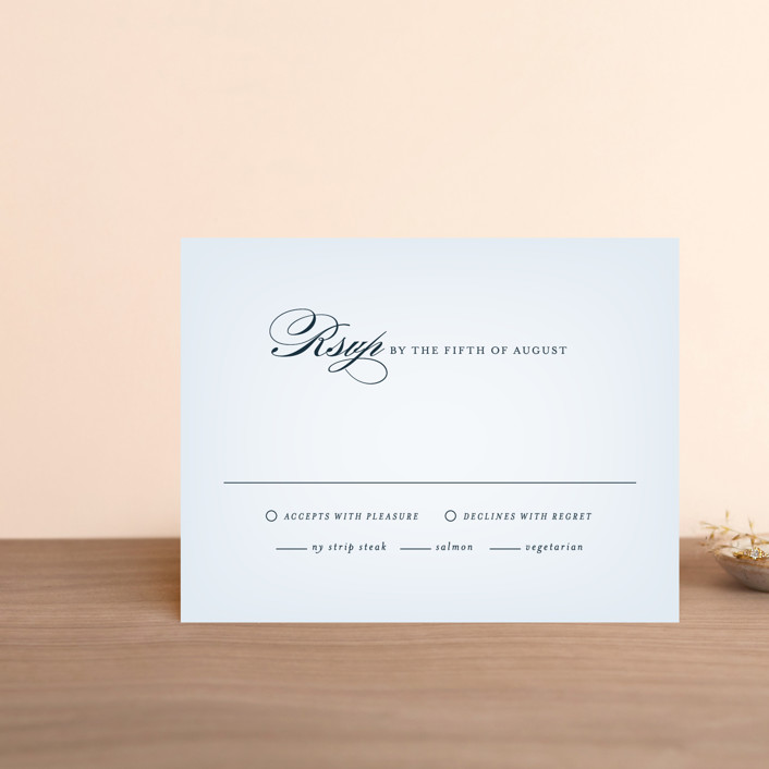 """""""Big City - Boston"""" - Rsvp Cards in Pale blue by Hooray Creative."""