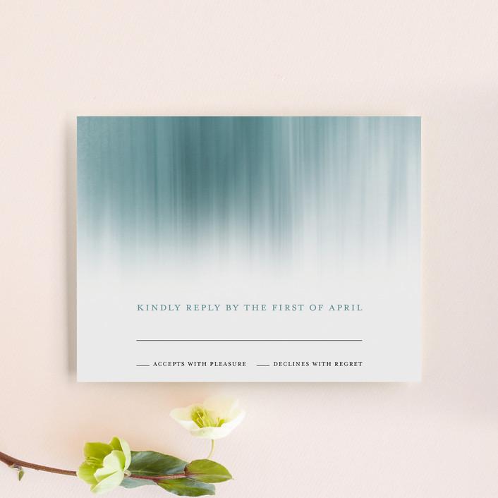 """Modern Beach"" - Modern Rsvp Cards in Dark blue by Sarah Lenger."
