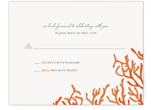 Simple Coral RSVP Cards