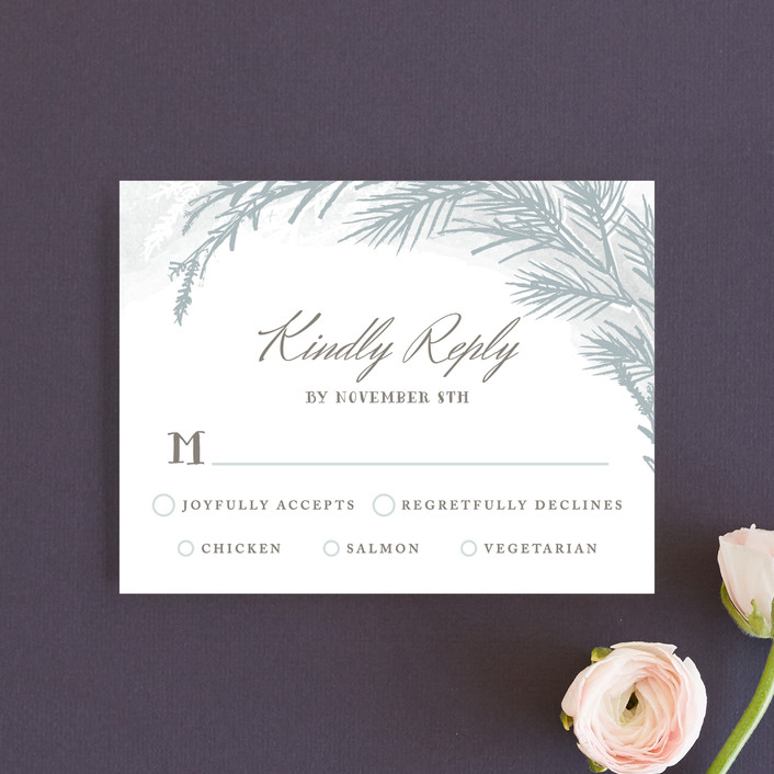 """Winter Dream"" - Rsvp Cards in Ice Grey by Karidy Walker."