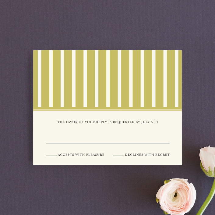 """Modern Classic"" - Modern Rsvp Cards in Golden Bear by annie clark."
