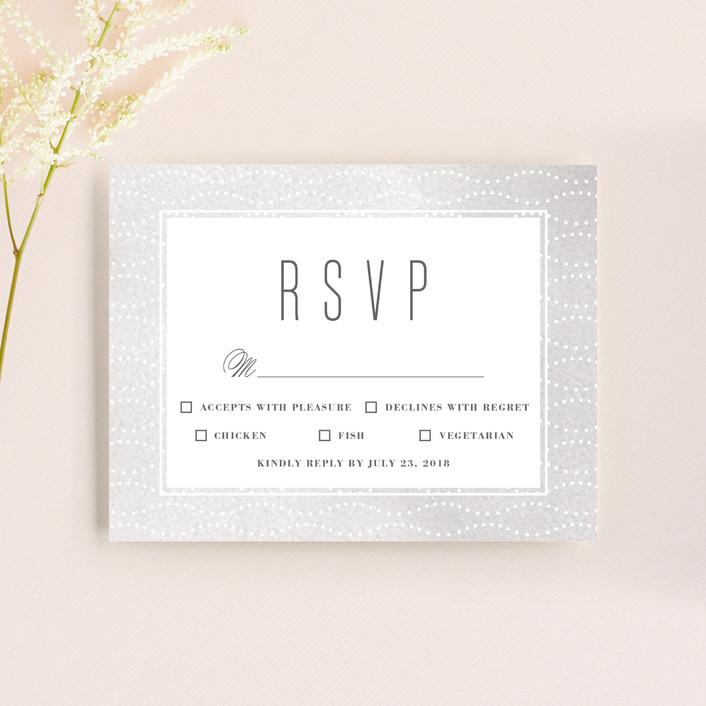 """Flora Romance"" - Rsvp Cards in Rose by Melanie Severin."