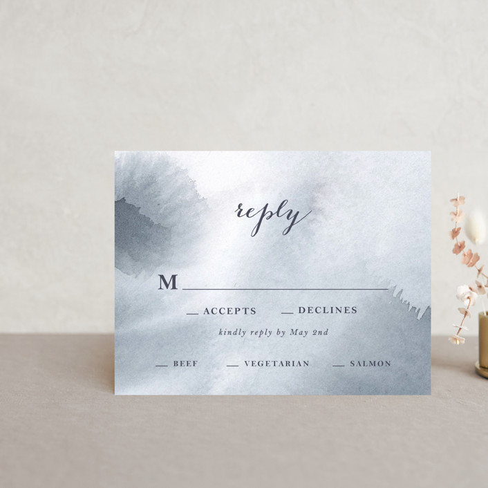 """""""Petale"""" - Rsvp Cards in Blush by Kelly Ventura."""