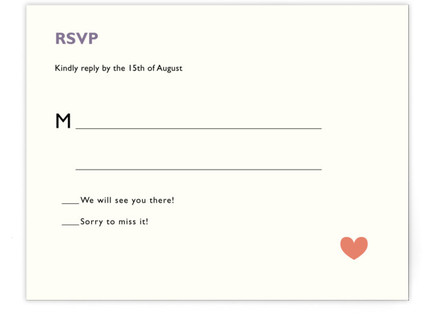Two Brides Destination RSVP Cards