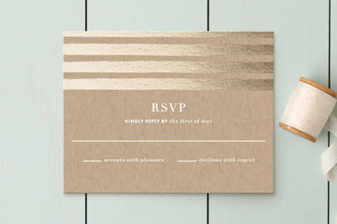 Band of Gold RSVP Cards