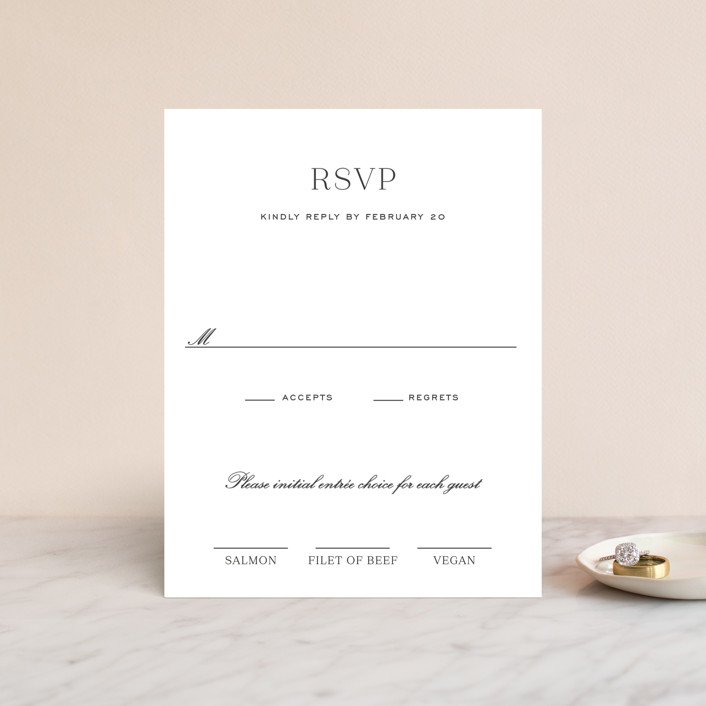 """""""Upper East"""" - Rsvp Cards in Charcoal by Toast & Laurel."""