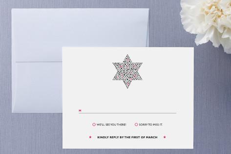 Mitzvah Star RSVP Cards