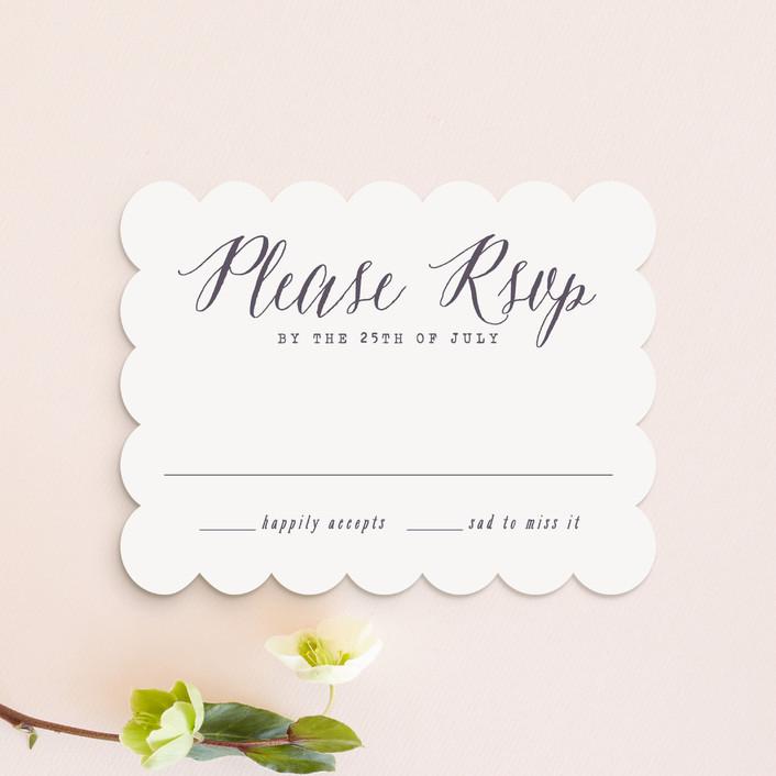 """Garden Lights"" - Rustic Rsvp Cards in Plum by Hooray Creative."