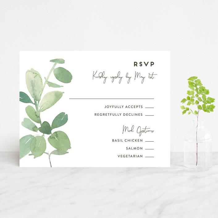 """Soft Eucalyptus"" - Rsvp Cards in Garden by Yao Cheng Design."