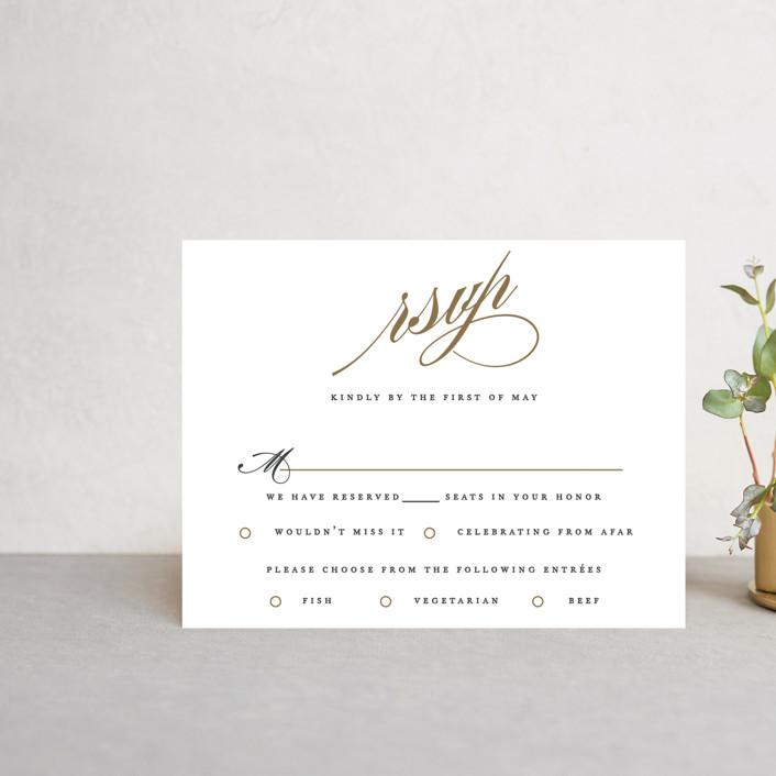 """Flourish"" - Rsvp Cards in Antique by Jennifer Postorino."