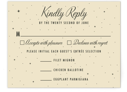 Starry, Starry Night RSVP Cards