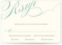 Winter Flourish RSVP Cards