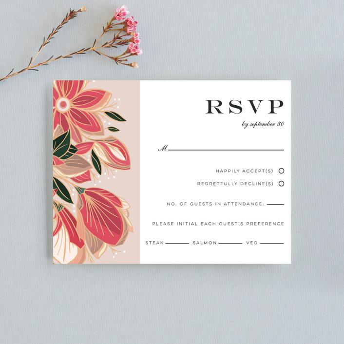 """Sawyer"" - Rsvp Cards in Cloisonne by Melanie Kosuge."