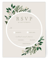 This is a green rsvp card by Kaydi Bishop called Watermark with standard printing on signature in standard.