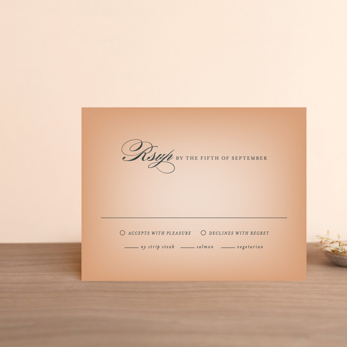 """Big City - Austin"" - Rsvp Cards in Peach by Hooray Creative."