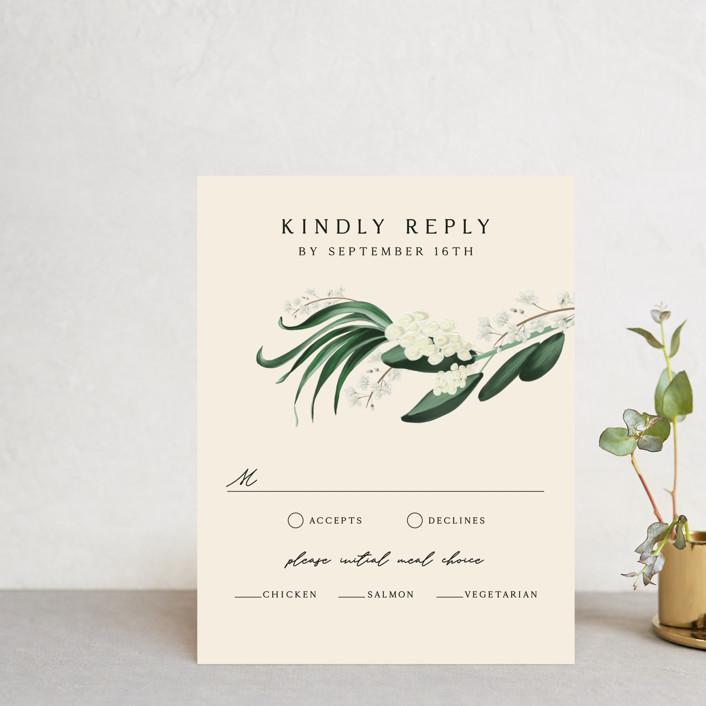 """Meander"" - Rsvp Cards in Obsidian by Kaydi Bishop."