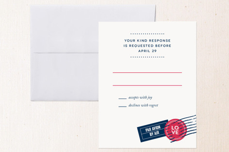 Come Away With Me RSVP Cards