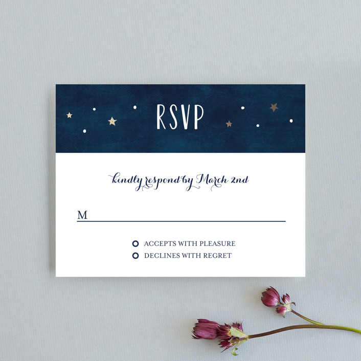 """Love you to the Moon and Back"" - Full-Bleed Photo, Rustic Rsvp Cards in Night Sky by Chasity Smith."