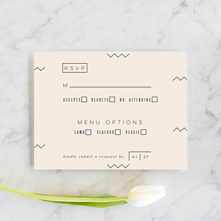 """Adagio"" - Rsvp Cards in Lilac by Moglea."