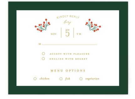 Holiday Wedding RSVP Cards