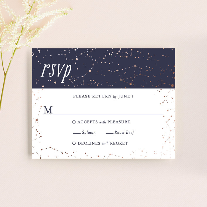 """Starlight"" - Whimsical & Funny, Funny Rsvp Cards in Blue Violet by Snow and Ivy."