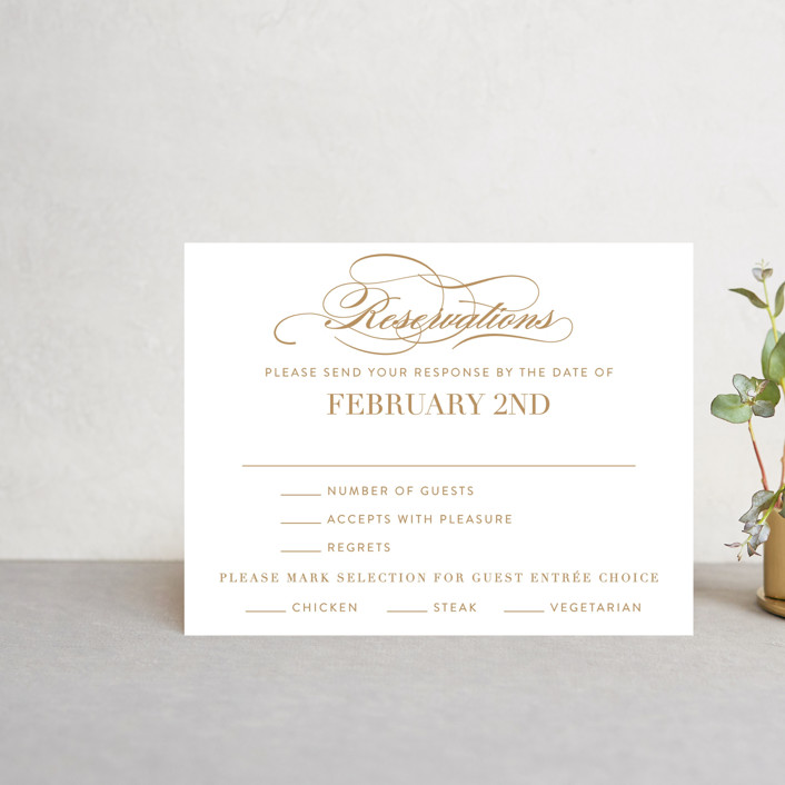 """""""Fashion District"""" - Rsvp Cards in Black Tie by Jill Means."""