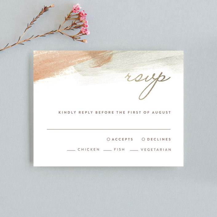 """Canyon"" - Bohemian, Modern Rsvp Cards in Sienna by Kelly Nasuta."