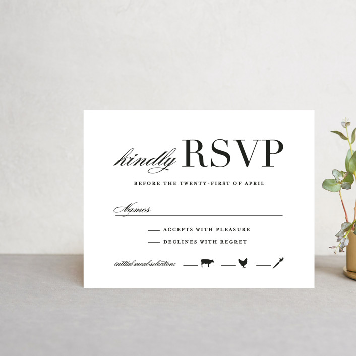 """""""Classic"""" - Rsvp Cards in Tuxedo by Lauren Chism."""