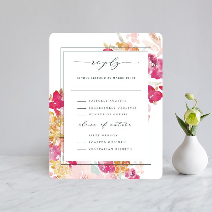 """""""Spring Garden"""" - Rsvp Cards in Petal by Grace Kreinbrink."""