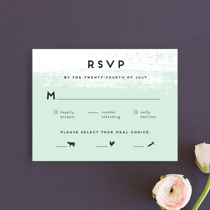 """Museum quality"" - Rsvp Cards in Teal by Jennifer Wick."
