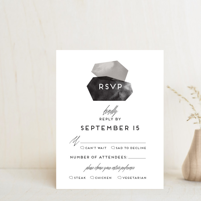 """love is strong"" - Rsvp Cards in Onyx by Aspacia Kusulas."
