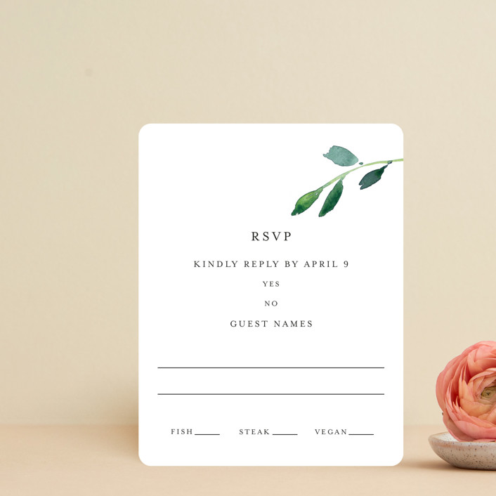"""""""Spring Wildflowers"""" - Rsvp Cards in Floral by Mere Paper."""