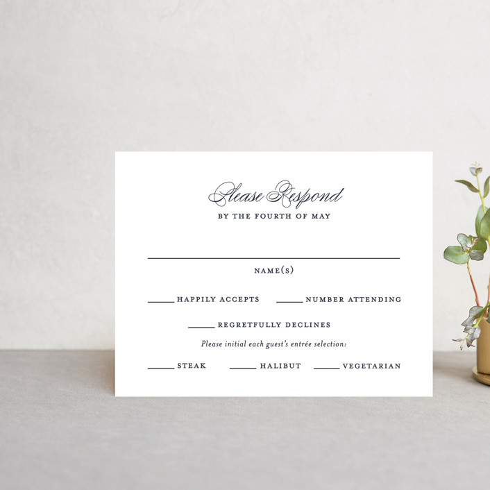 """""""Flawless"""" - Rsvp Cards in Midnight by Kimberly FitzSimons."""