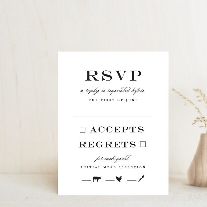 """""""Downtown"""" - Rsvp Cards in Onyx by Lauren Chism."""